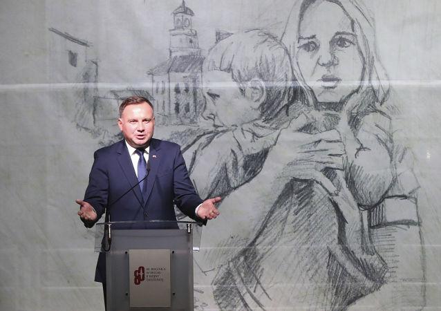 Prezydent Polski Andrzej Duda na uroczystości z okazji 80. rocznicy wybuchu II wojny światowej w Warszawie