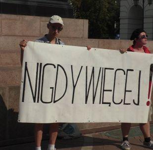 Akcja protestacyjna Nigdy więcej w Warszawie 1 września