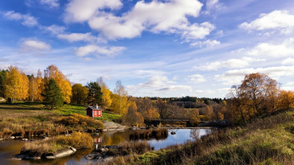Naturalne krajobrazy w Finlandii