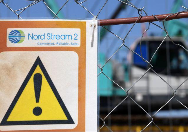 Plac budowy gazociągu Nord Stream-2 w obwodzie leningradzkim
