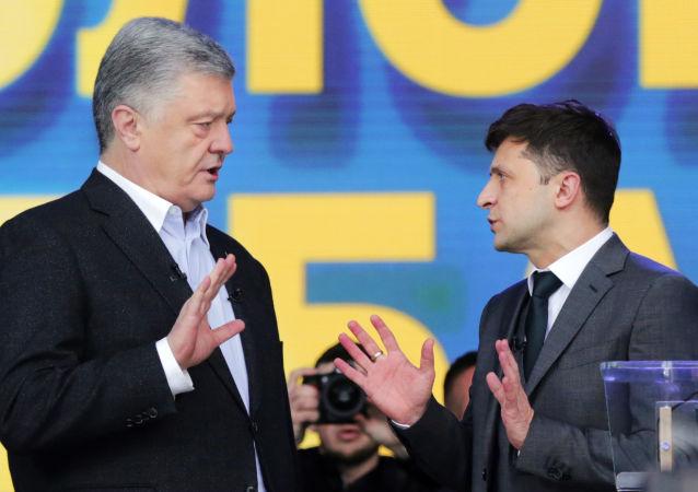 Petro Poroszenko i Wołodymyr Zełenski.