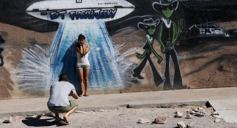 Graffiti z UFO, stan Nevada