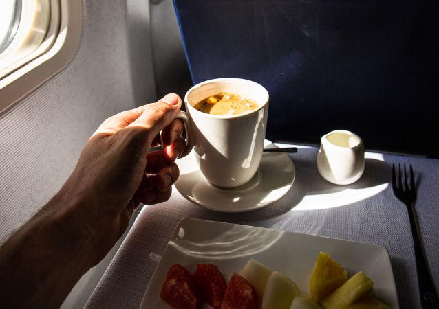 Pasażer na pokładzie samolotu