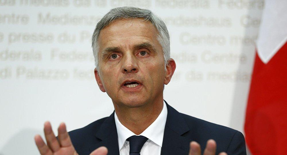 Minister spraw zagranicznych Szwajcarii Didier Burkhalter
