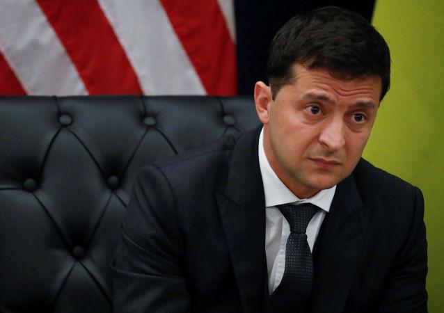 Prezydent Ukrainy Wołodymyr Zełenski na spotkaniu z prezydentem USA Donaldem Trumpem w Nowym Jorku