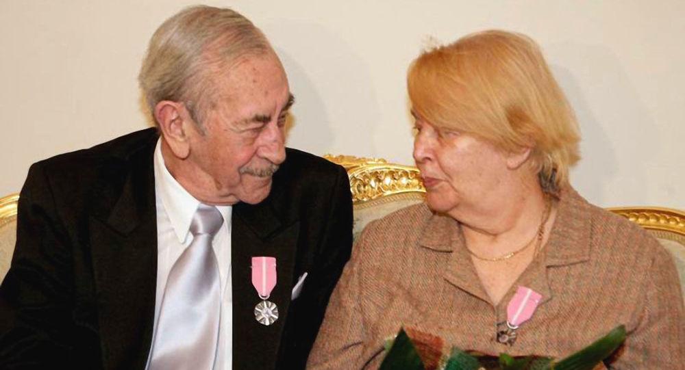 Jan Kobuszewski z żoną