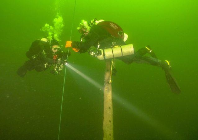 Znaleziska wyciągnięte z dna morza Bałtyckiego