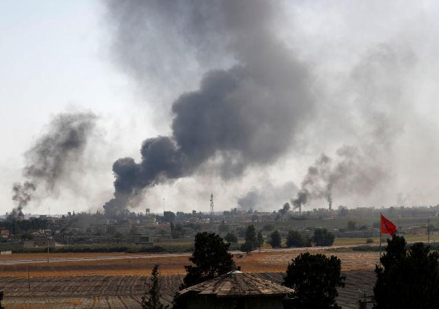 Syryjskie miasto, operacja Turcji