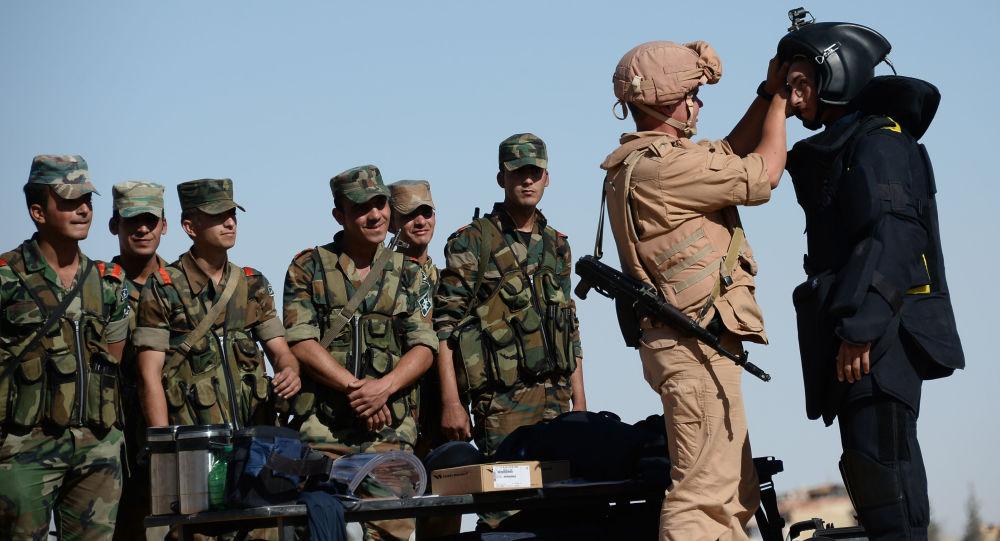 Rosyjscy żołnierze w Syrii