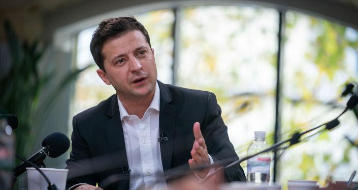 Prezydent Ukrainy Wołodymyr Zełenski.