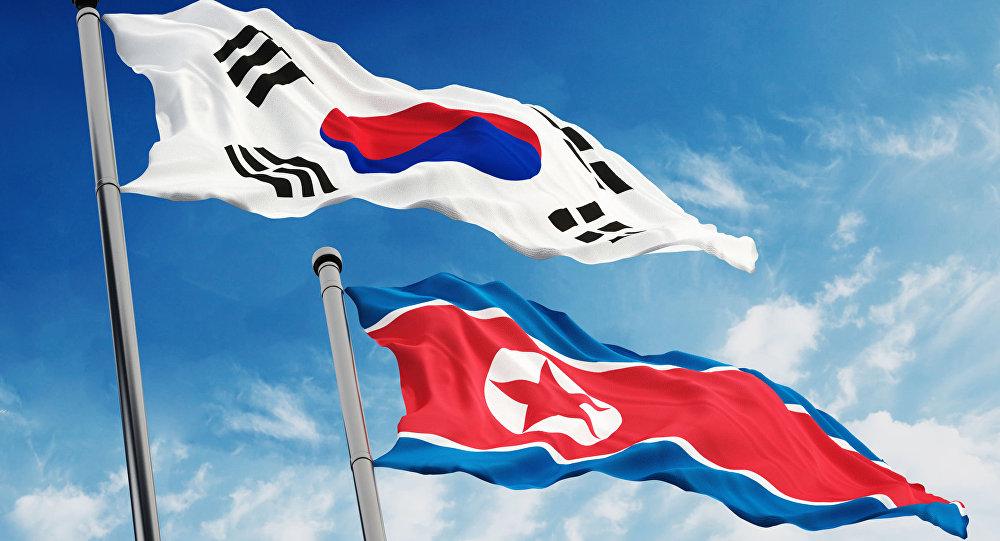Flagi Korei Południowej i KRLD