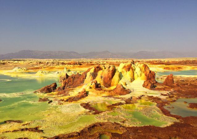 Dolina Dallol w Etiopii