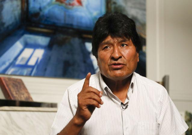 Były prezydent Boliwii Evo Morales podczas wywiadu z agencją AZ w Meksyku