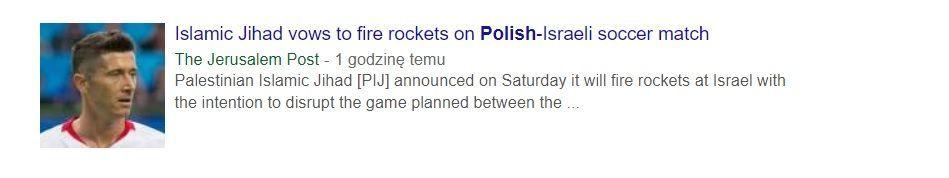 Jerusalem Post usuwa publikację na temat planowanego ataku podczas meczu Polska-Izrael