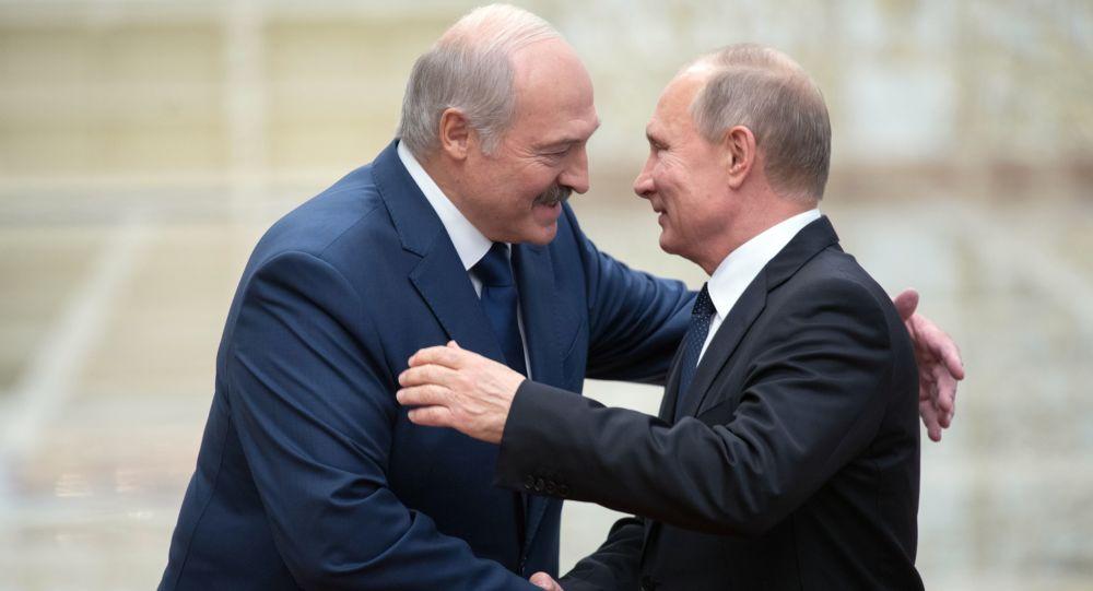Aleksandr Łukaszenka i Władimir Putin