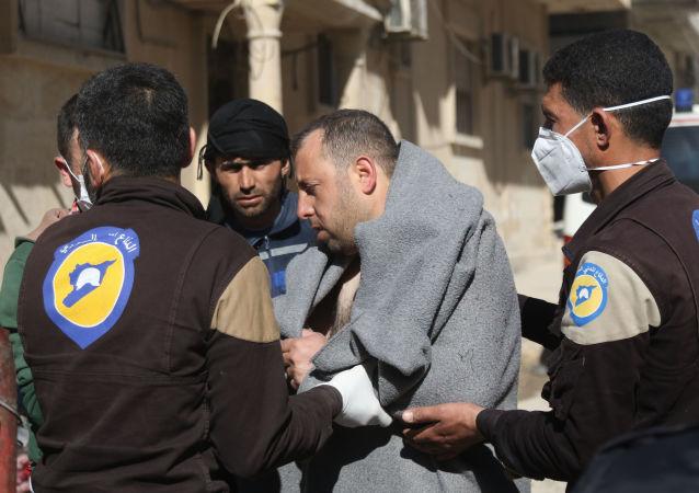Ofiara ataku z użyciem broni chemicznej w prowincji Idlib w Syrii