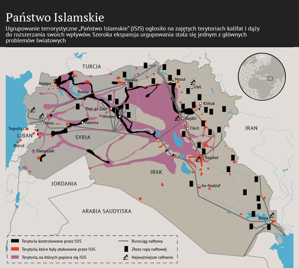 Państwo Islamskie na mapie