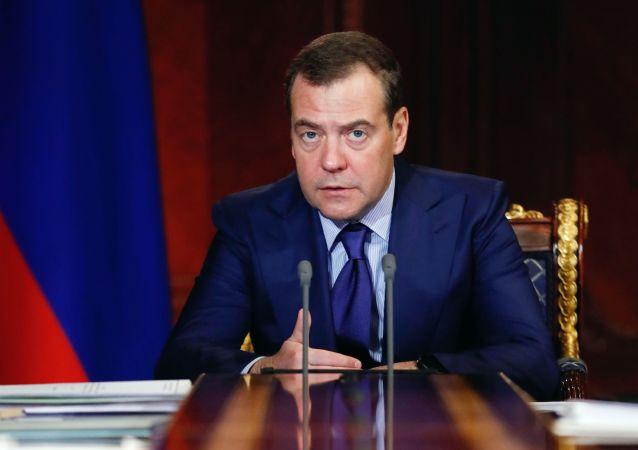 Premier Federacji Rosyjskiej Dmitrij Miedwiediew