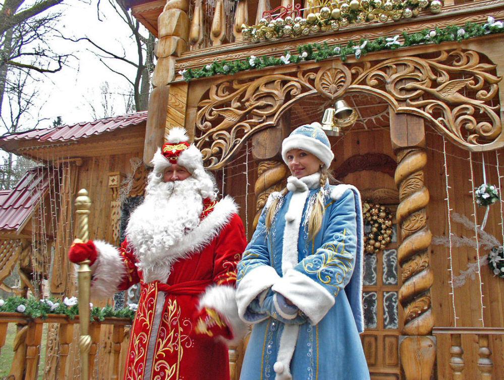 Dziadek Mróz i Śnieżynka z Białorusi