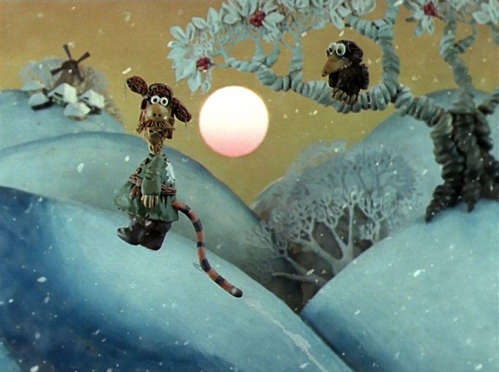 """Radziecki film animowany """"Padał zeszłoroczny śnieg"""", 1983 rok"""