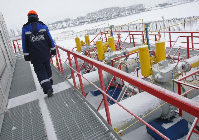 """Stacja pomiaru gazu """"Sudża"""" w obwodzie kurskim"""