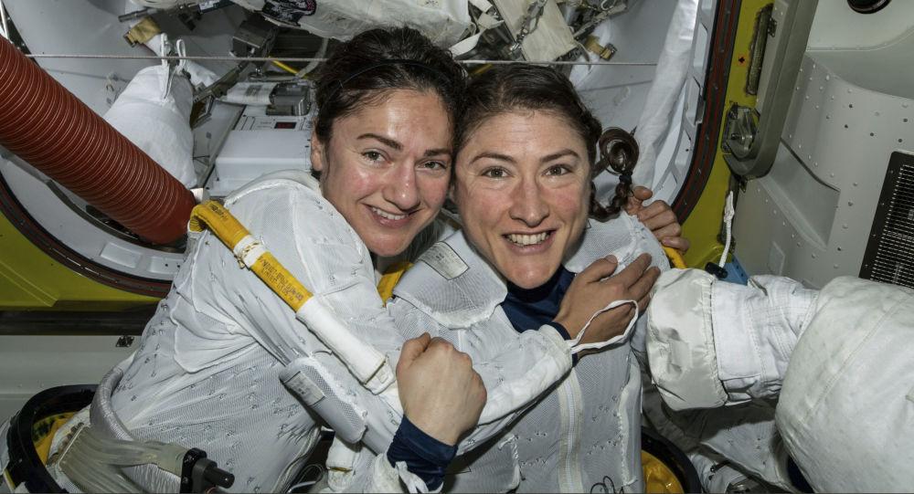 Amerykanki Christina Koch i Jessica Meir