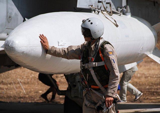 Rosyjscy wojskowi na bazie Hmeimim w Syrii