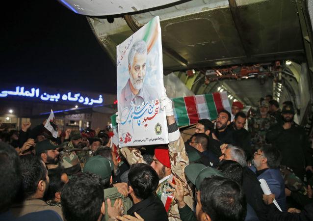 Portret generała Kasema Sulejmaniego w Iranie