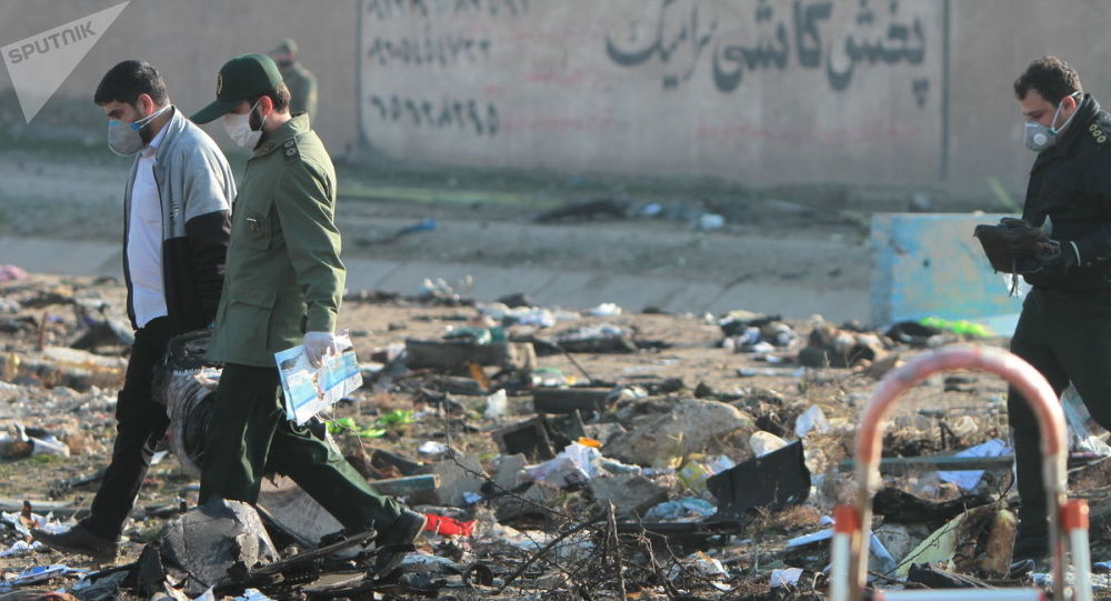 Miejsce katastrofy samolotu, Iran