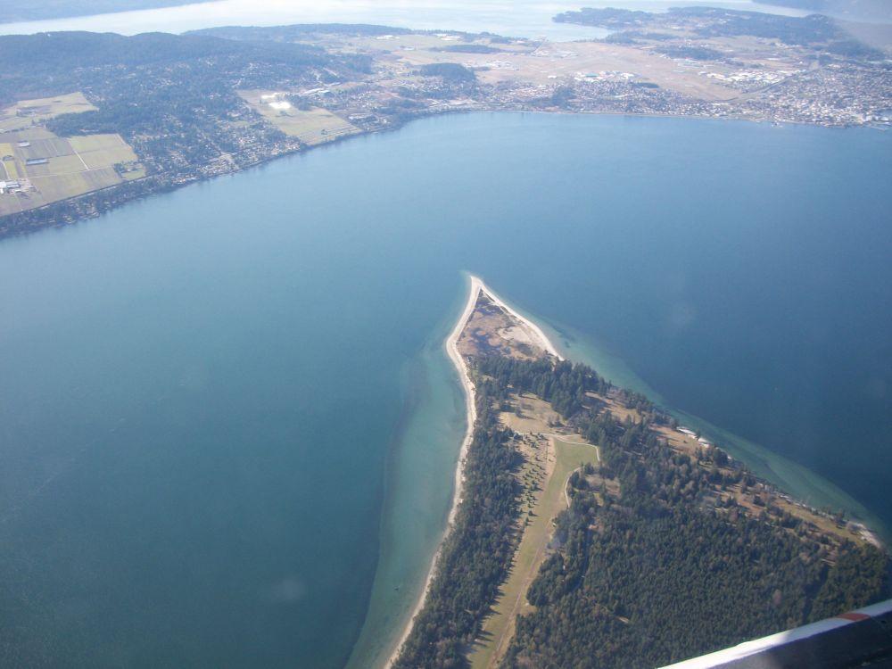 Widok z góry na Wyspę Wiktorii, Kanada.