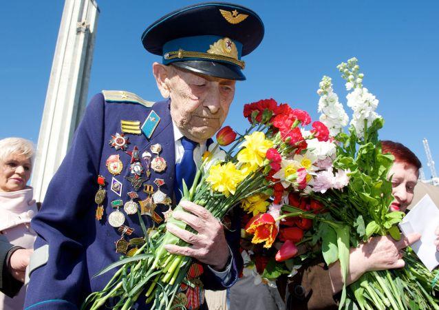 Weteran II wojny światowej, 70-lecie zwycięstwa w Rydze