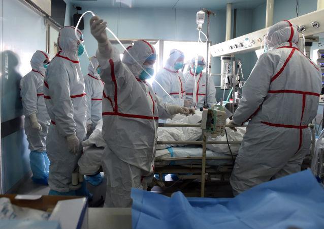 Szpital w mieście Wuhan, Chiny