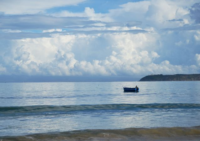 Rybak na morzu