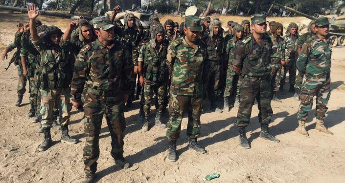 Żołnierze syryjskiej armii rządowej