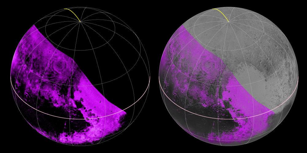 Zdjęcie podczerwone planety Pluton