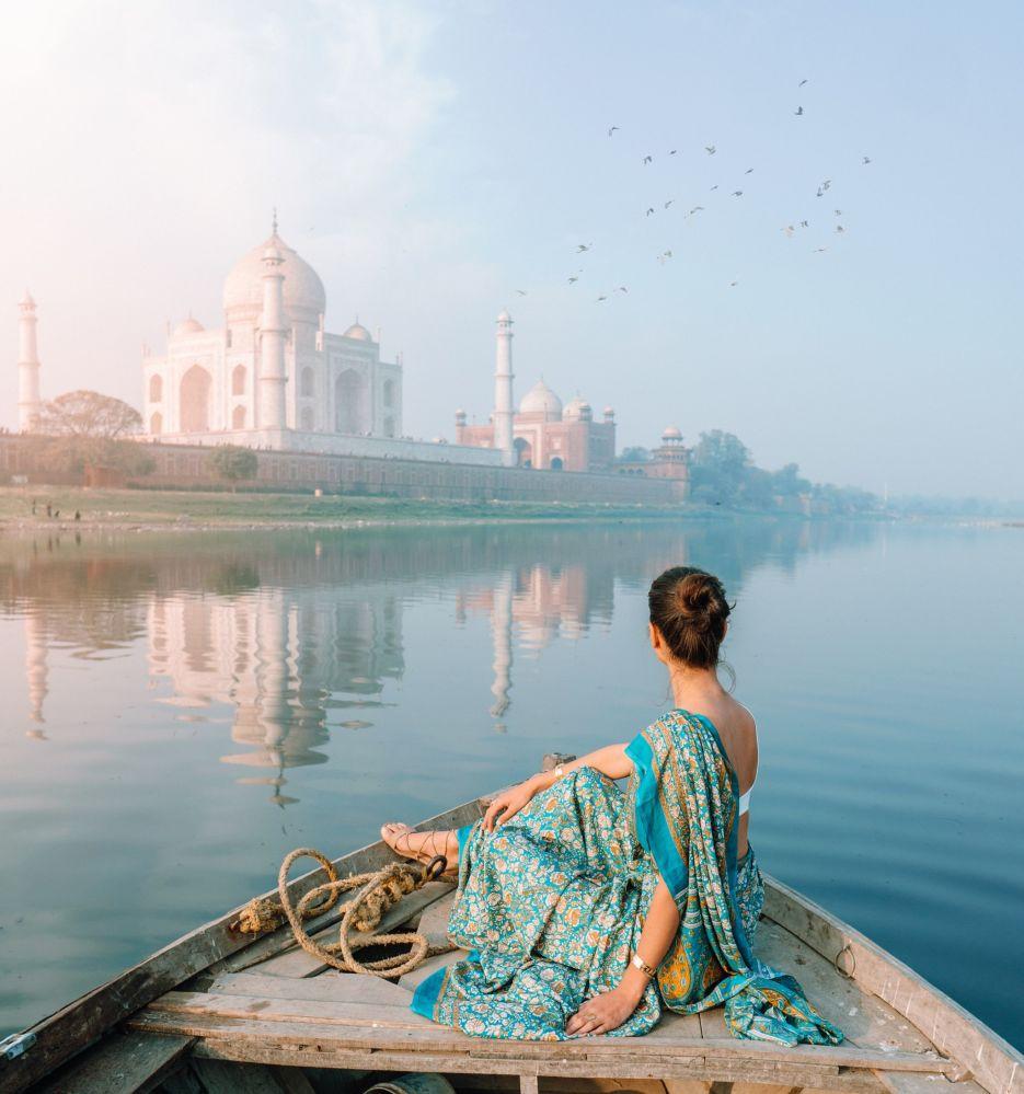 Widok na Tadź Mahal