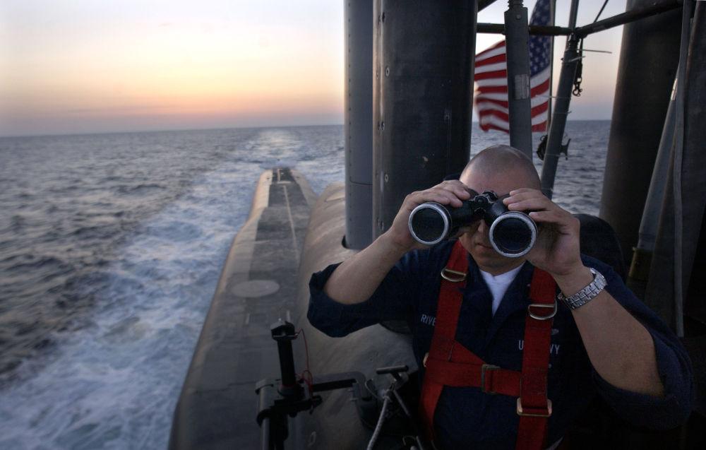 Oficer na pokładzie okrętu podwodnego USS Florida