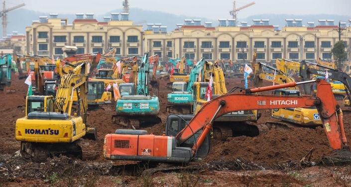 Ekspresowa budowa szpitala w Wuhan