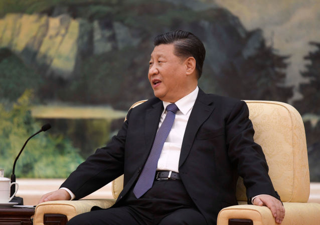 Prezydent Chin Xi Jinping w czasie spotkania w Pekinie