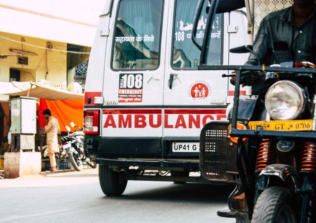 Karetka pogotowia w Waranasi