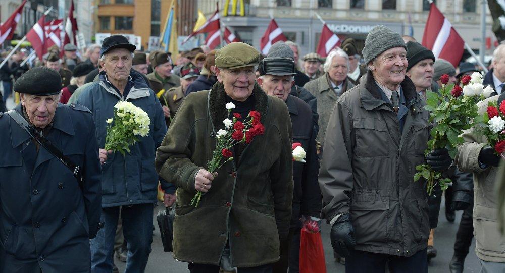 Weterani Łotewskiego Legionu SS