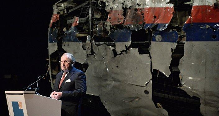 Tjibbe Herman Jan Joustra przedstawia raport o katastrofie MH17 na Ukrainie