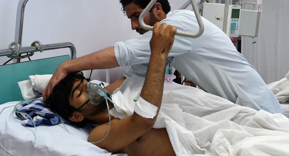 Ranny w szpitalu w Kabule