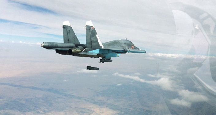 Russian Air Force strikes Islamic State positions in Syria
