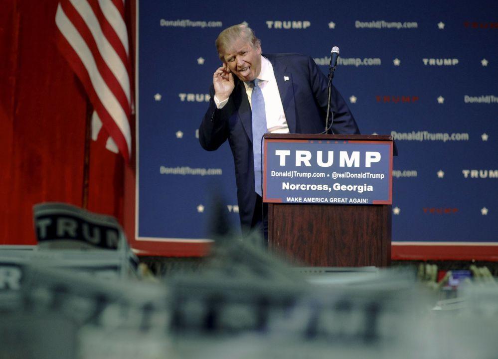 Kandydat na prezydenta USA Donald Trump podczas kampanii wyborczej w Norcrossie, Georgia