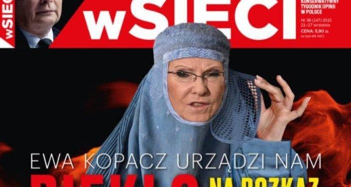 Ewa Kopacz na okładce wSieci