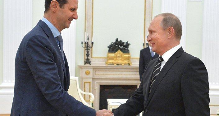 Prezydent Rosji Władimir Putin spotkał się z prezydentem Syrii Baszarem al-Asadem