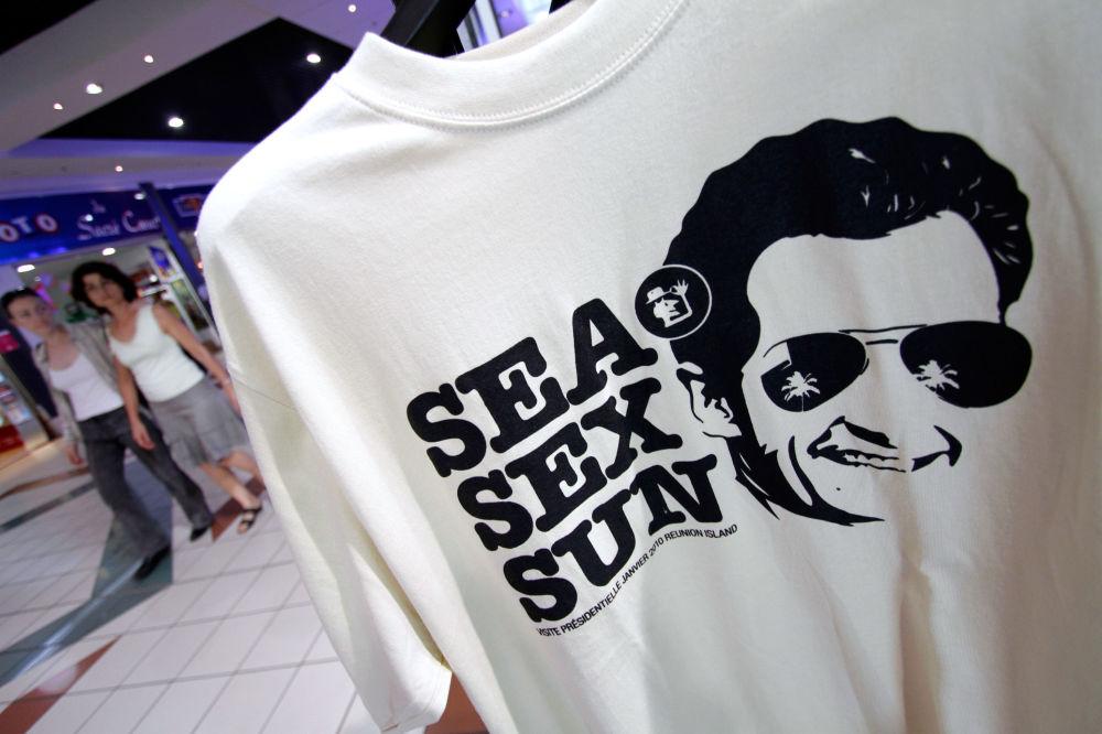 Koszulka zezdjęciem prezydenta Francji Nicolas Sarkozy, 2010 rok