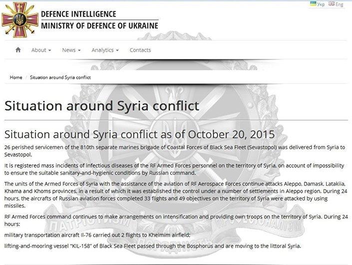 Zrzut ekranu strony Głównego Zarządu Wywiadu Ministerstwa Obrony Ukrainy.