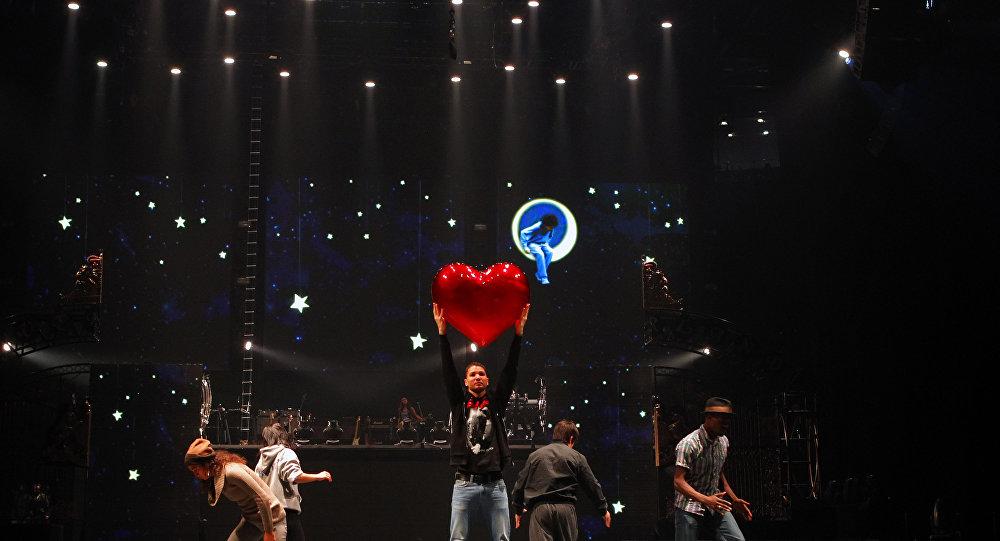 Próby do show Michael Jackson THE IMMORTAL Cirque du Soleil